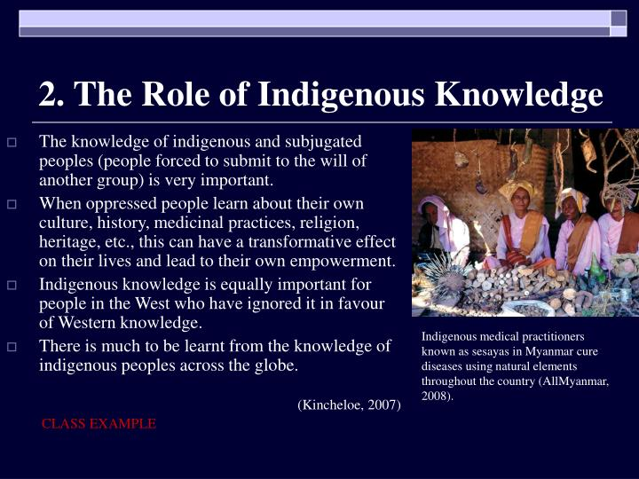 2. The Role of Indigenous Knowledge