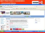 best practices in academics automated library