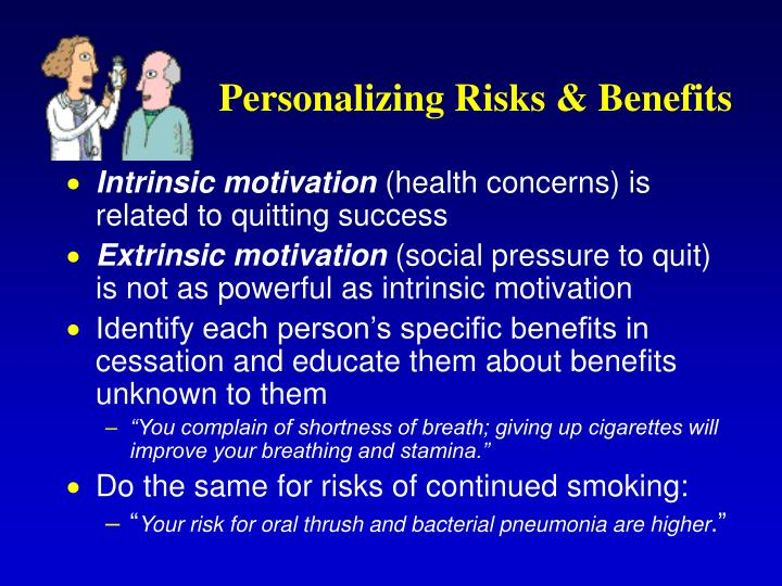 Personalizing Risks & Benefits