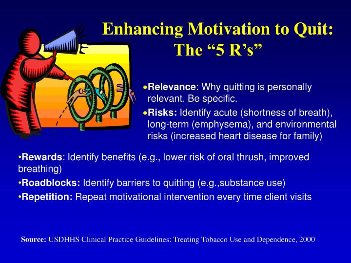 """Enhancing Motivation to Quit: The """"5 R's"""""""