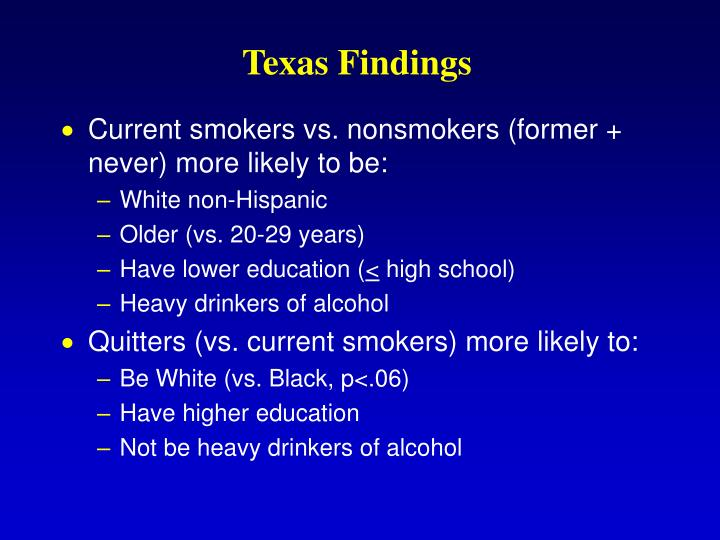 Texas Findings