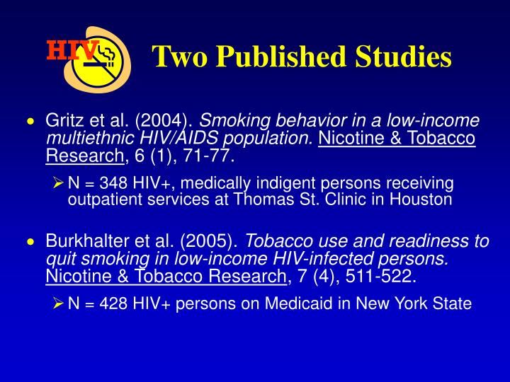 Two Published Studies
