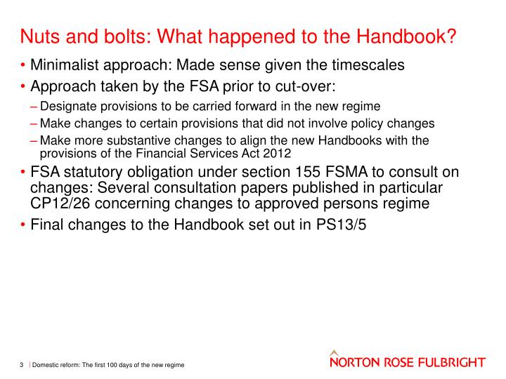 Nuts and bolts what happened to the handbook