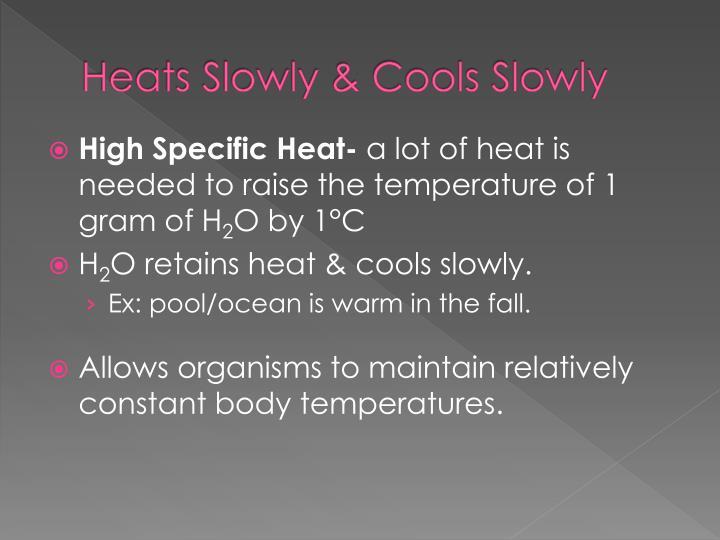 Heats Slowly & Cools Slowly