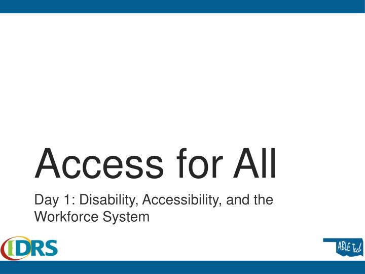 access for all n.
