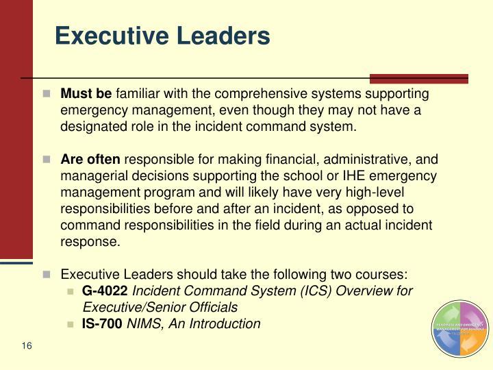 Executive Leaders