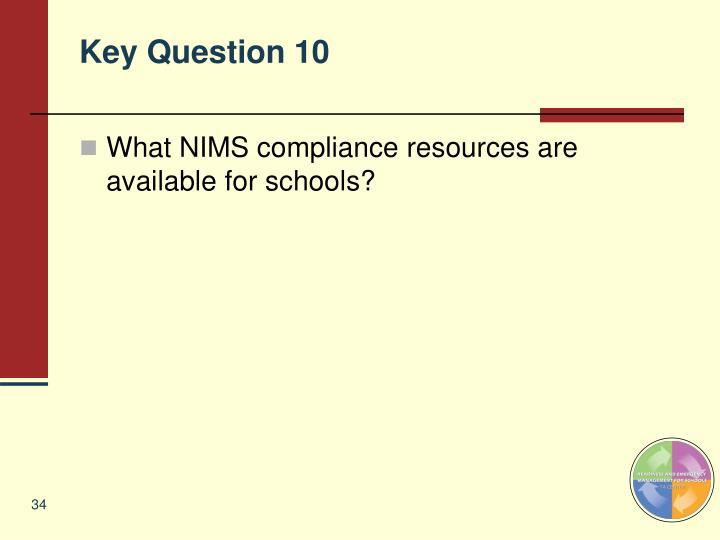 Key Question 10