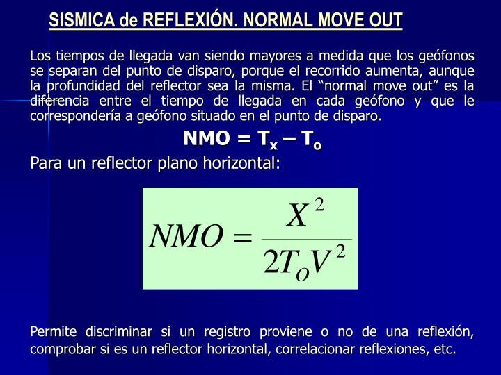 SISMICA de REFLEXIÓN. NORMAL MOVE OUT