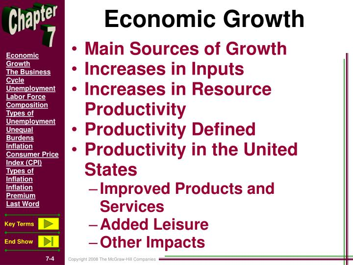 discuss the extent to which economic growth Determinants of economic growth are inter-related factors that directly influence the rate of economic growth ie increase in real gdp of an economy there are six major determinants of growth four of these are typically grouped under supply factors which include natural resources, human resources, capital goods and technology.