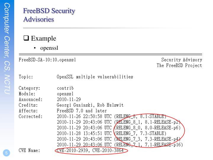 FreeBSD Security