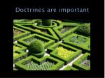 doctrines are important