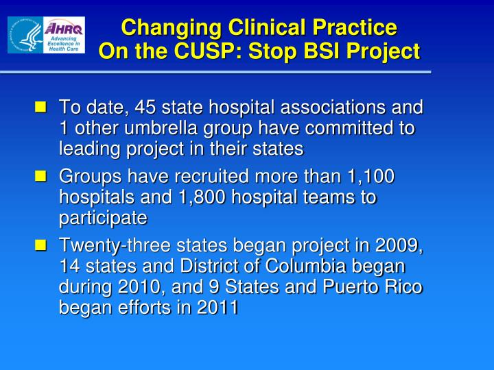 Changing Clinical Practice