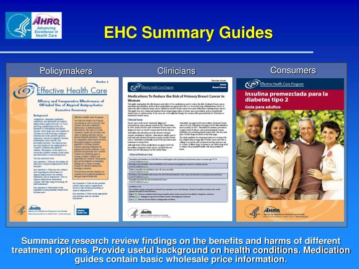 EHC Summary Guides