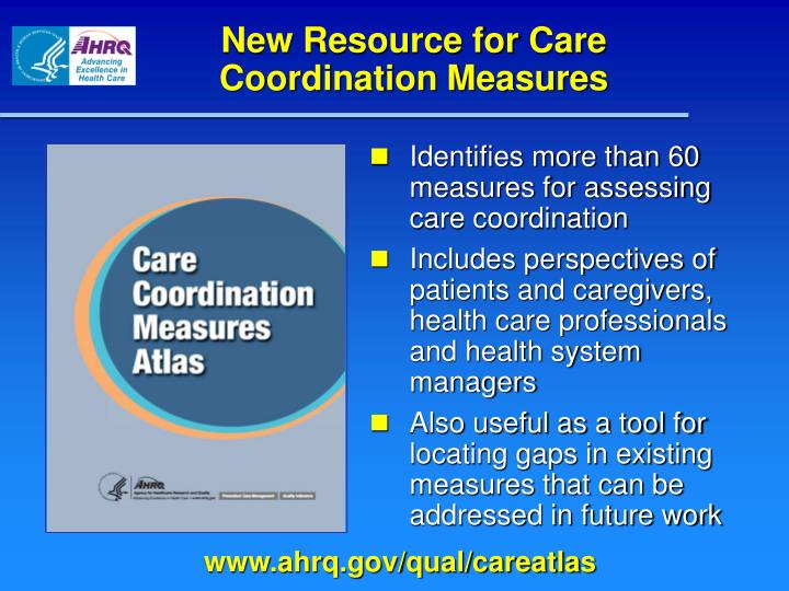 New Resource for Care Coordination Measures