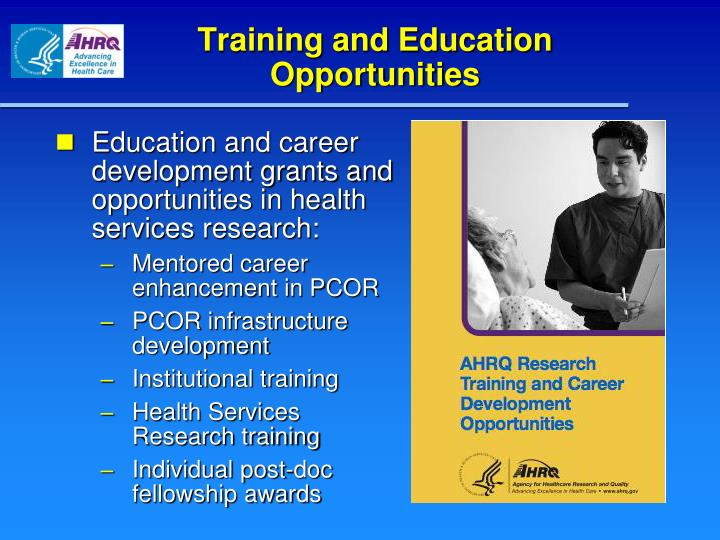 Training and Education Opportunities