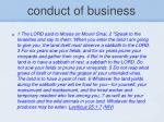 conduct of business13