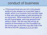 conduct of business14