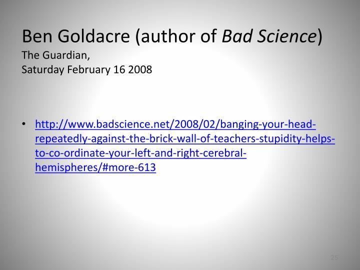 Ben Goldacre (author of