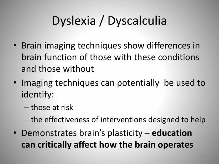 Dyslexia / Dyscalculia