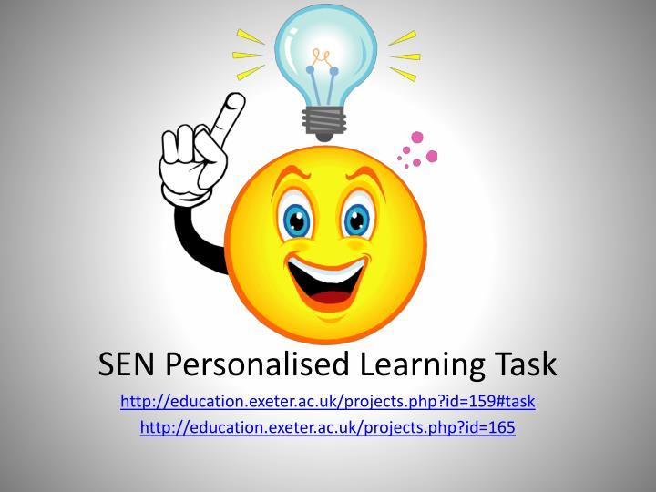 Sen personalised learning task
