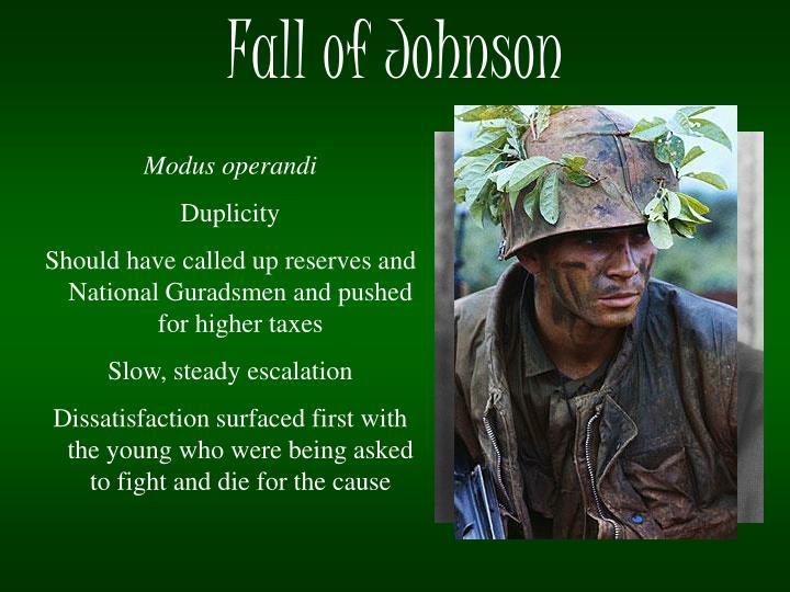 Fall of Johnson
