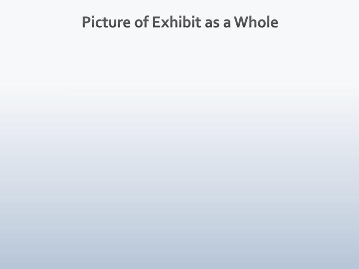 Picture of exhibit as a whole