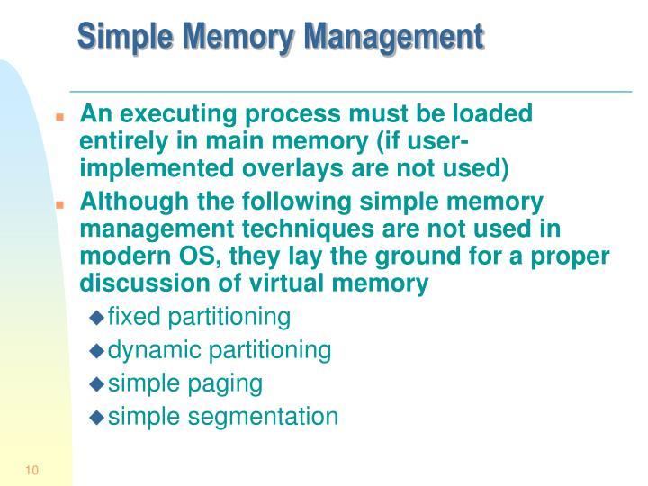Simple Memory Management