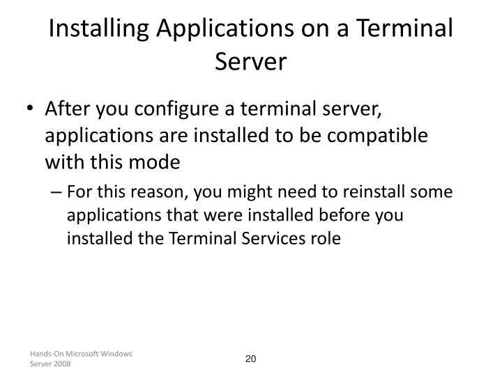 Installing Applications on a Terminal Server