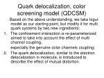 quark delocalization color screening model qdcsm
