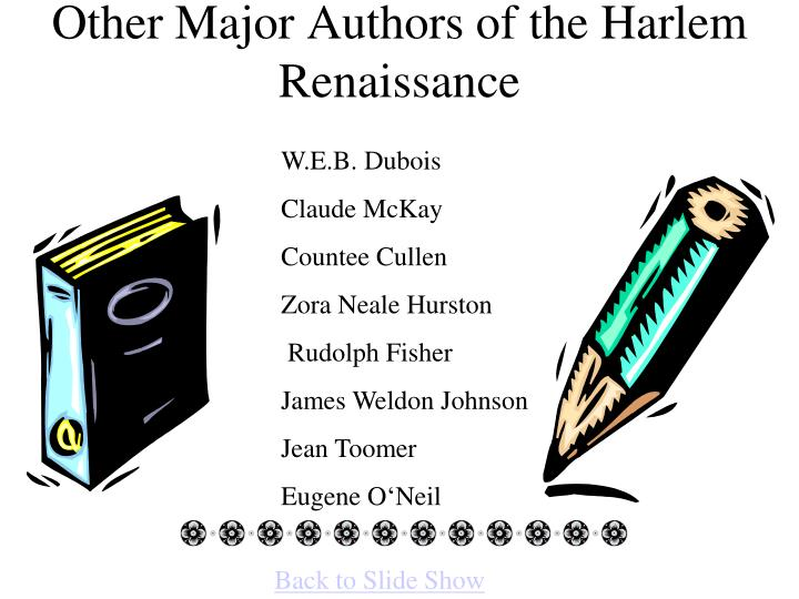 Other Major Authors of the Harlem Renaissance
