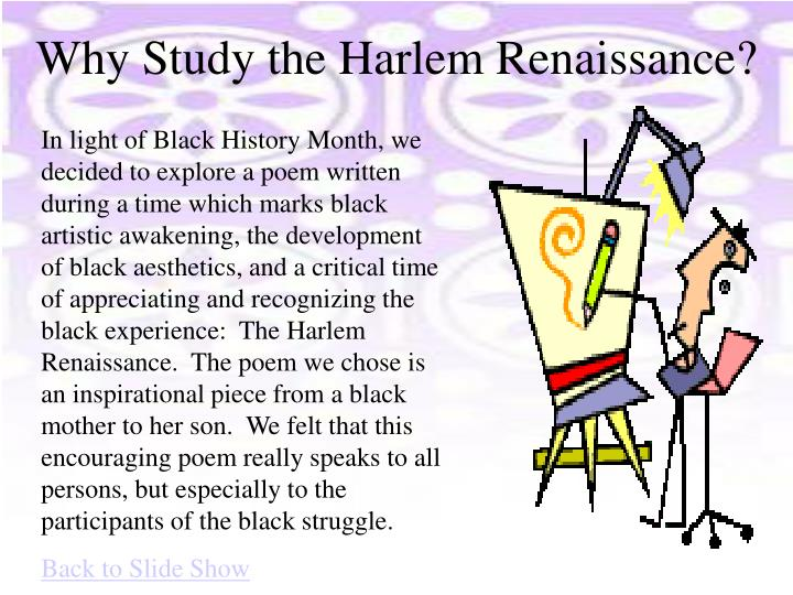 Why Study the Harlem Renaissance?