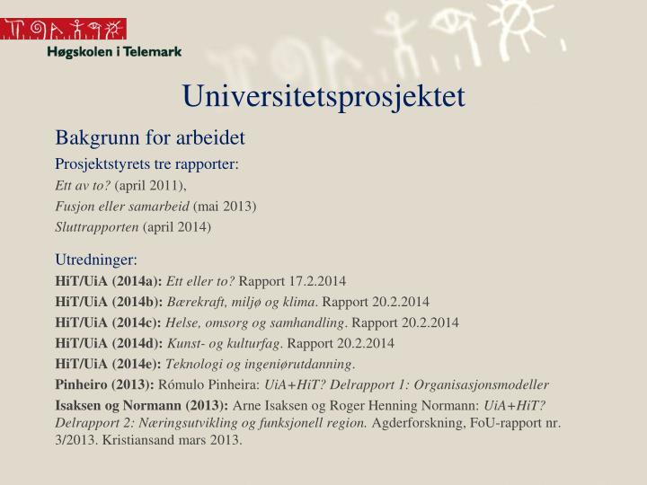 Universitetsprosjektet