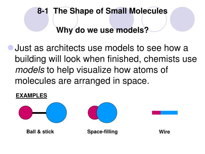 8-1  The Shape of Small Molecules
