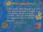 who links to you