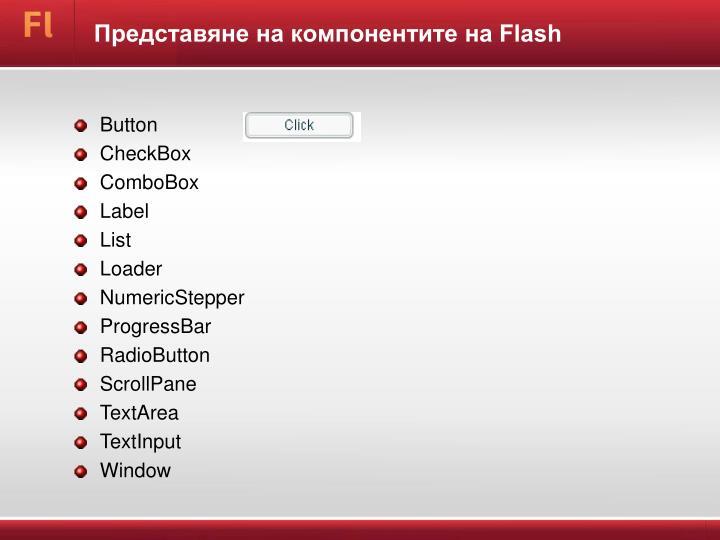 Представяне на компонентите на Flash
