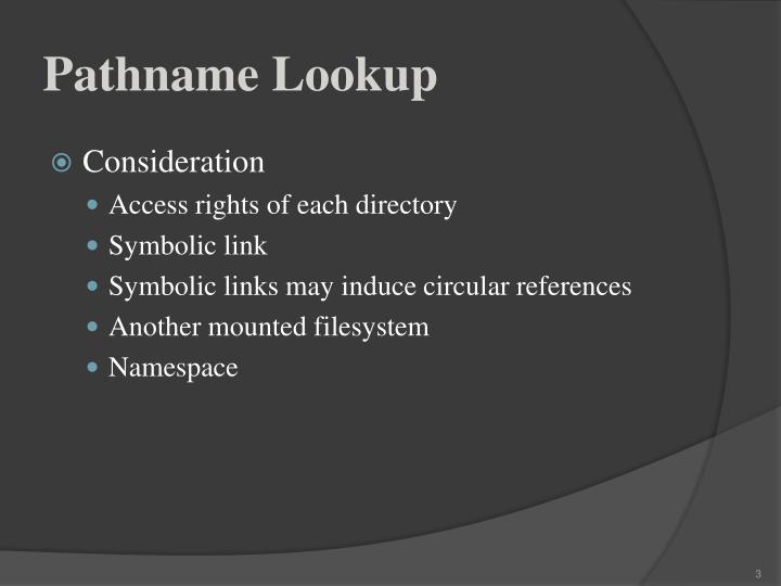 Pathname lookup1