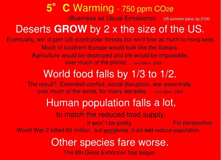 5°C Warming    .