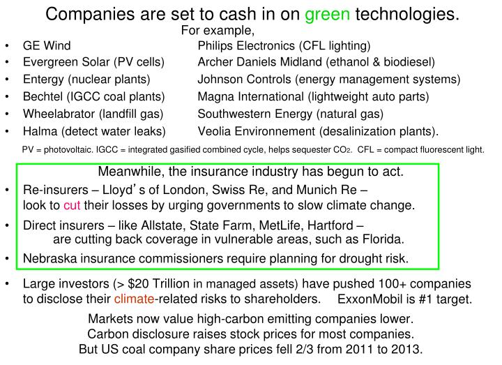 Companies are set to cash in on