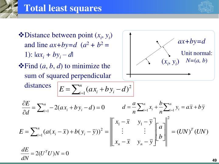 Total least squares