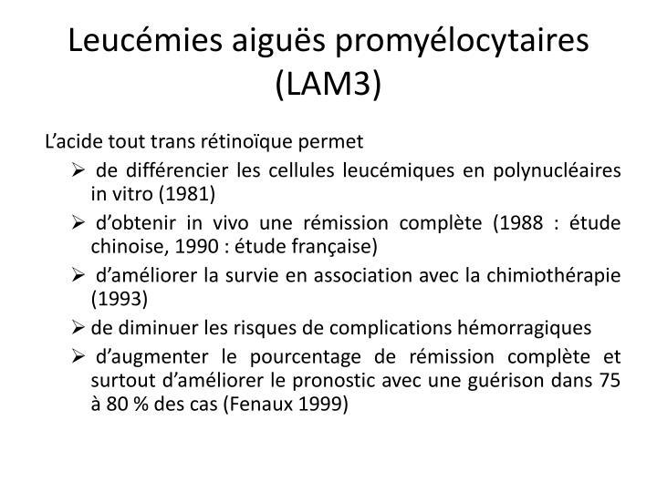 Leucémies aiguës promyélocytaires (LAM3)