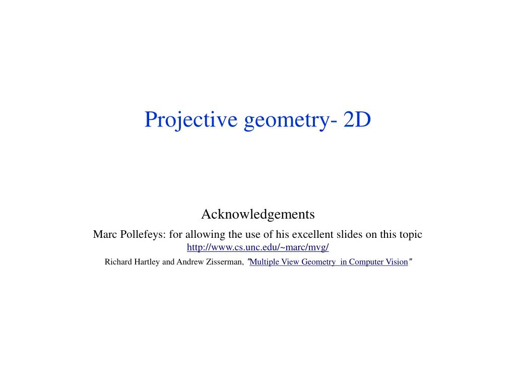ppt projective geometry 2d powerpoint presentation id 6037708