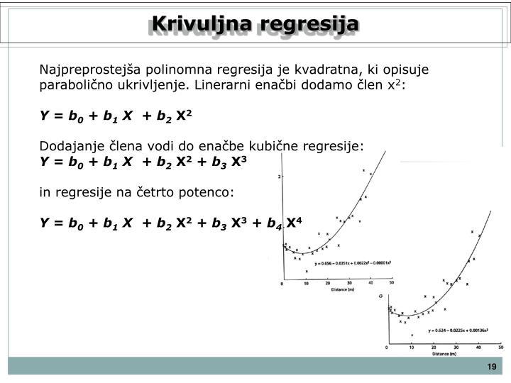 Krivuljna regresija