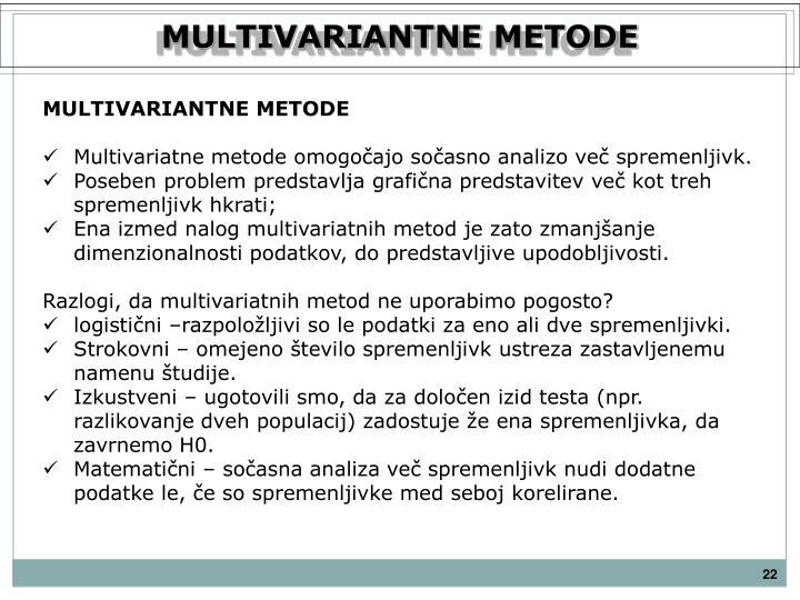 MULTIVARIANTNE