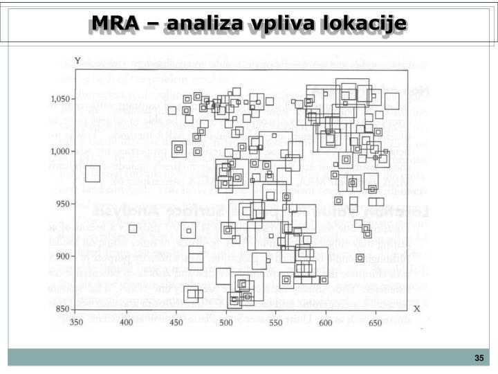 MRA – analiza vpliva lokacije