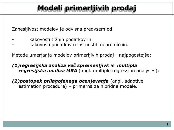 Modeli primerljivih