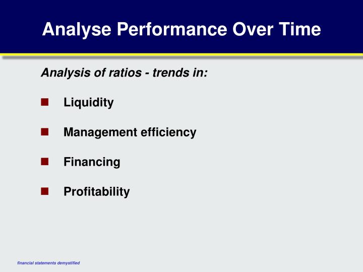 Analyse Performance Over Time