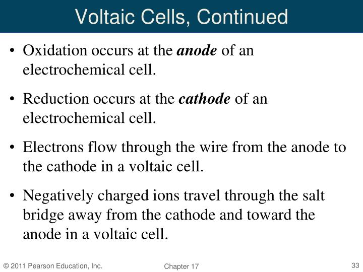 Voltaic Cells, Continued