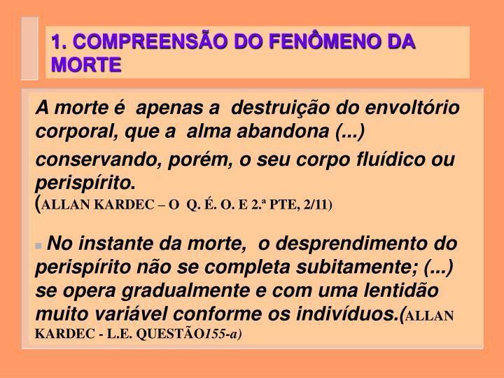 1. COMPREENSÃO DO FENÔMENO DA MORTE