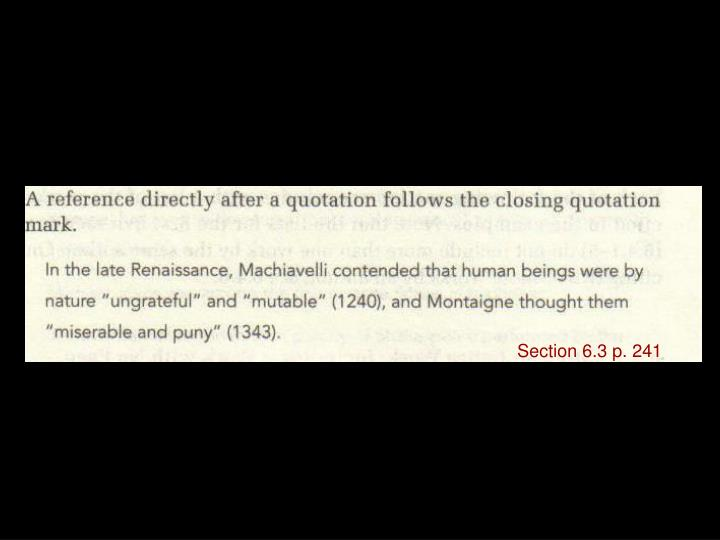 Section 6.3 p. 241