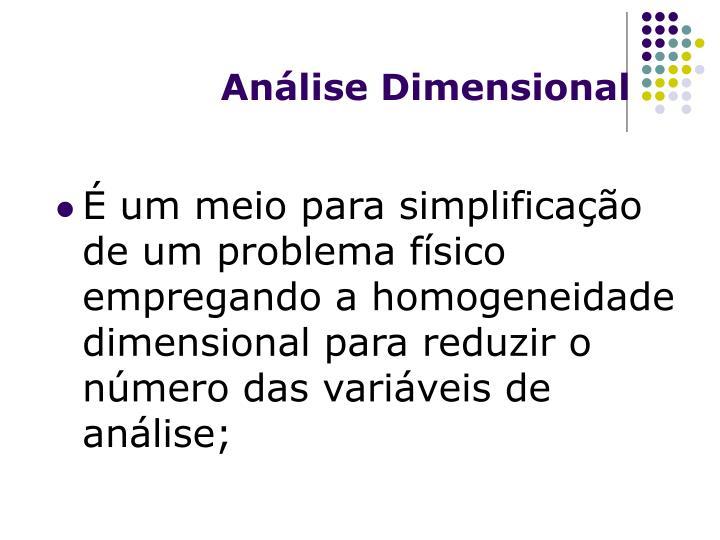 An lise dimensional